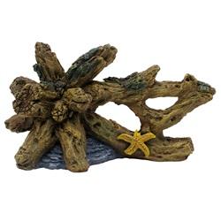 "Marina Driftwood with Starfish - Medium - 5.5"" x 4.1/4"" x 3 3/4"" (14.5 x 10.5 x 9.5 cm)"