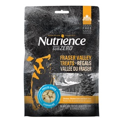 Nutrience Grain Free Subzero Freeze-Dried Fraser Valley Treats - Chicken, Chicken Liver and Duck Liver - 70 g (2.5 oz)