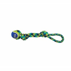 K9 Fitness by Zeus Rope Tug with Tennis Ball - 43.2 cm (17 in)