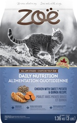 Zoë Cat Daily Nutrition - Chicken with Sweet Potato & Quinoa Recipe