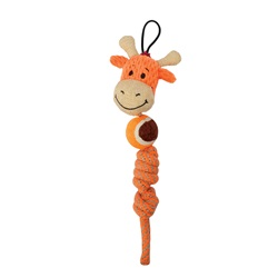 Zeus Mojo Naturals Tennis Rope Tug - Elephant & Giraffe - Assorted - 23 cm (9 in)