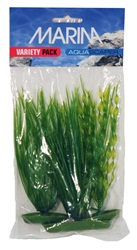 Marina Aquascaper Plastic Plants - 1 x Vallisneria (12.5 cm/5 in) - 2 x Hairgrass (12.5, 20/5, 8 in)