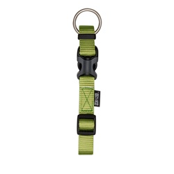 "Zeus Adjustable Nylon Dog Collar - Olive - Small - 1 cm x 22 cm-30 cm (3/8"" x 9""-12"")"