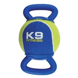 K9 Fitness by Zeus X-Large Tennis Ball with Double TPR Tug