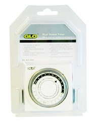 Glo Dual Outlet Timer, CE