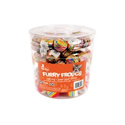 Cat Love Furry Frolics Cat Toy - Marble & Rainbow Foam Balls - 90 pieces