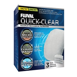 Fluval 106/206 and 107/207 Quick-Clear - 3 pack