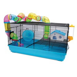 Living World Dwarf Hamster Cage - Playhouse - 58 cm L x 32 cm W x 31.5 cm H (22.8 x 12.5 x 12.4 in)