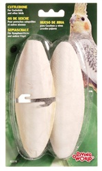 "Living World Cuttlebone with Holder - Large - 15 - 18 cm (6"" - 7"") - Twinpack"