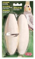 "Living World Cuttlebone with Holder - Large - 15 - 18 cm (6"" - 7"") - Twinpack"
