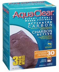 AquaClear 30 Activated Carbon Filter Insert 3 pack, 165g (5.8 oz)