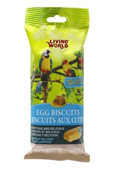 Living World Honey Flavored Egg Biscuits for Birds - 50 g (1.75 oz) - 4 pack