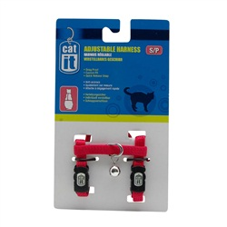 Catit Adjustable Nylon Cat Harness - Red - Small