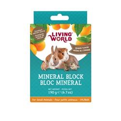 Living World Small Animal Mineral Blocks - Orange Flavour