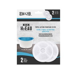 Zeus H2EAU Triple Action Fountain Filters