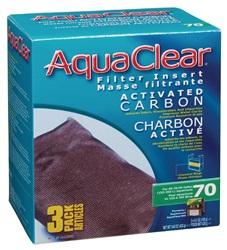 AquaClear 70 Activated Carbon Filter Insert - 420 g (14.8 oz) - 3 pack