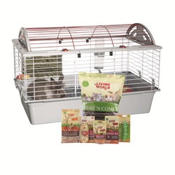 "Living World Deluxe Rabbit Starter Kit - 78 cm L x 48 cm W x 50 cm H (30.7"" x 18.9"" x 19.7"")"