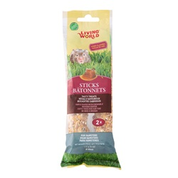 Living World Hamster Sticks - Honey Flavour