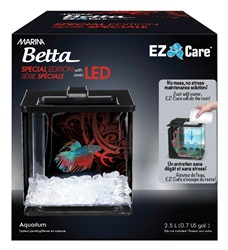 Marina Betta Special Edition EZ Care Aquarium - Black - 2.5 L (0.7 US Gal)