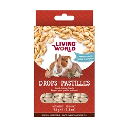 Living World Small Animal Drops - Peanut Flavour - 75 g (2.6 oz)