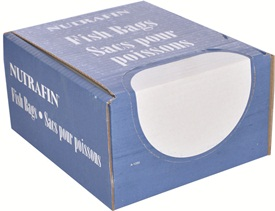 "Nutrafin Fish Bags - Small - 6.5"" x 17"". Box of 500"