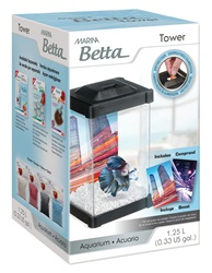 Marina Betta Tower Aquarium - 1.25 L (0.33 US gal)