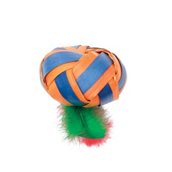 Cat Love Terra Toys Catnip Cat Toy - Flat Ball with Feathers