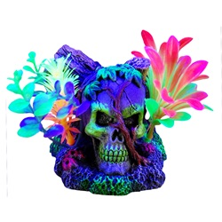 Marina iGlo Ornament - Skull with Vines and Plants - 11 cm (4.5 in)