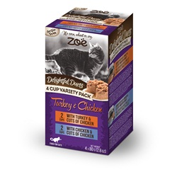 Zoë Delightful Duets Poultry Variety Pack - 4 cups
