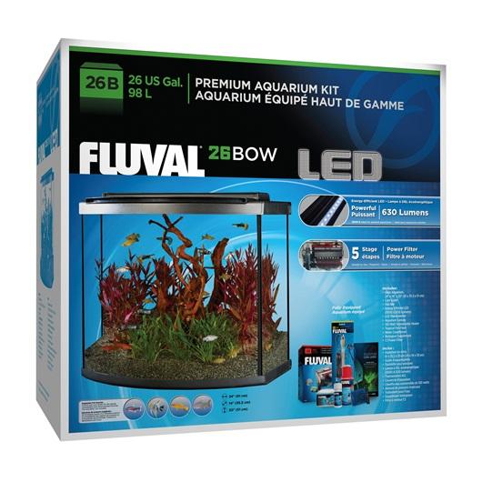 Fluval Premium Aquarium Kit with LED 26 Bow 98