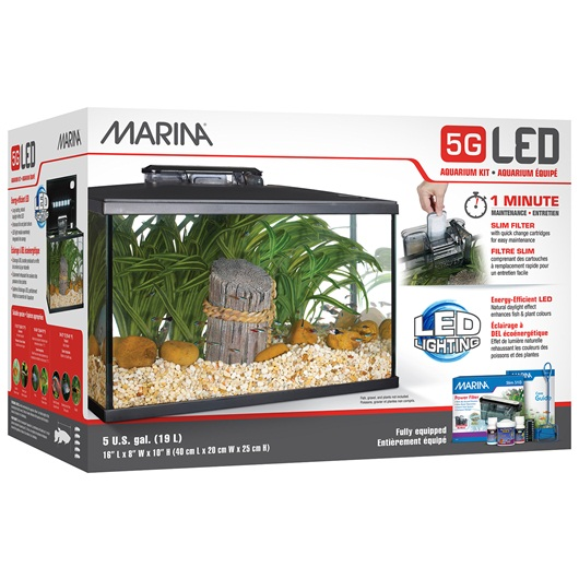 Marina 5G LED Glass Aquarium kit