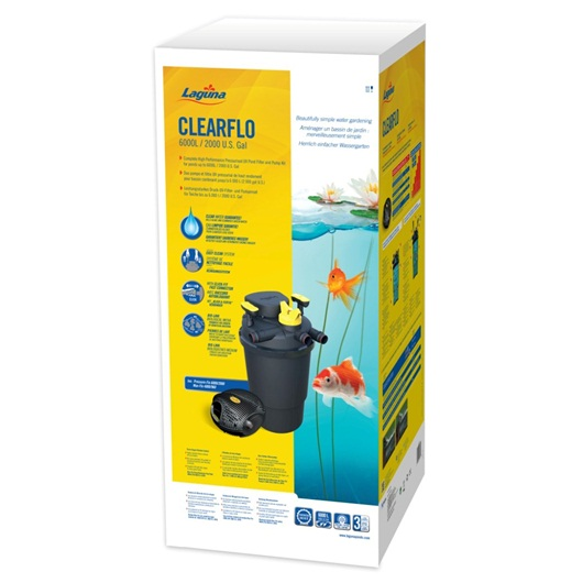 Pt1742 laguna clearflo 2000 complete pump filter and uv for 2000 gallon pond filter