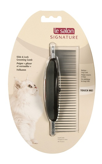 Le Salon Signature Cat Slide & Lock  Grooming Comb  50310