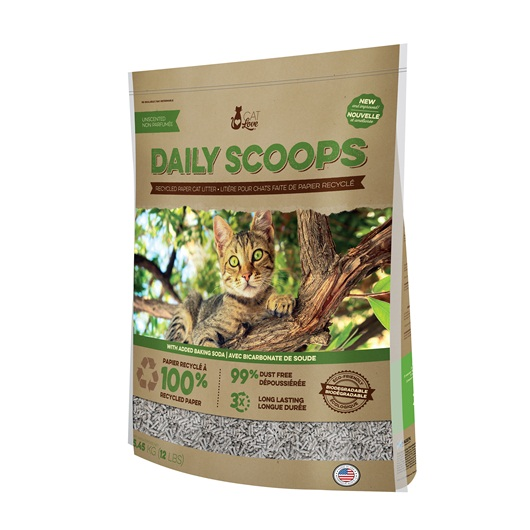 37503 Cat Love Daily Scoops Recycled Paper Litter 12 Lb