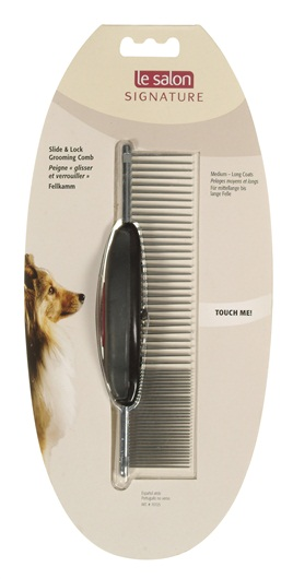 Le Salon Signature  Dog Slide & Lock Grooming Comb  70725