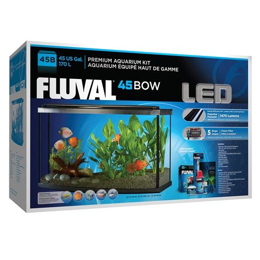 15232 Fluval Premium Aquarium Kit With Led 45 Bow