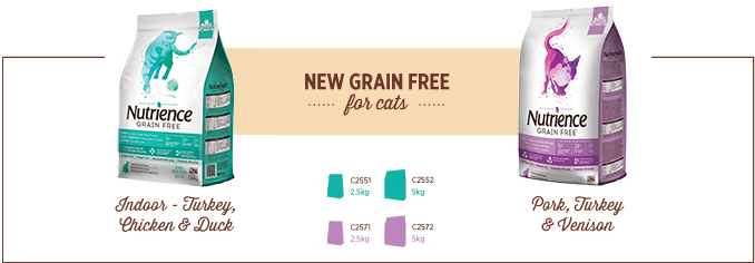 New Grain Free for Cats - Indoor Turkey,  Chicken and Duck, Pork, Turkey and Venison
