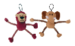 Zeus Mojo Naturals Pull-Thru Rope Pals - Elephant or Lion - Assorted