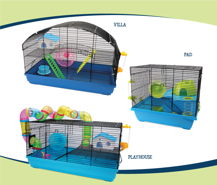 Living World Dwarf Hamster cages - Villa, Pad, Playhouse