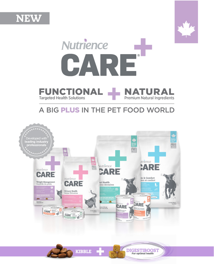 Nutrience Care - A big plus in the pet food world.