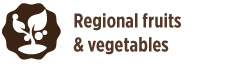 Regional fruits and vegetables