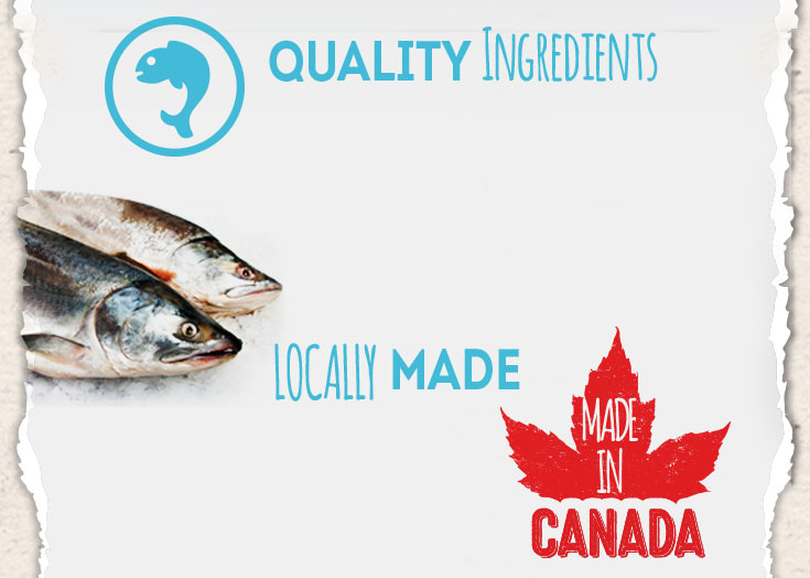 Quality ingredients - Locally made in Canada