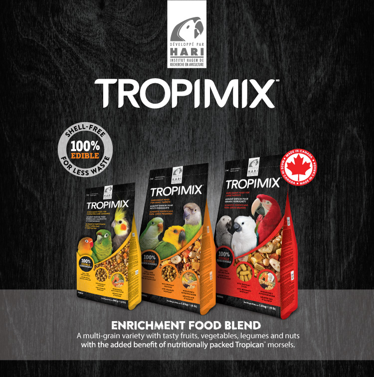 Tropimix: 100% Edible enrichment blend
