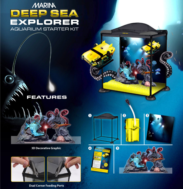 Marina Deep Sea Explorer Aquarium Starter Kit