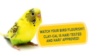 Watch your bird flourish! Clay-cal is Hari tested and Hari approved